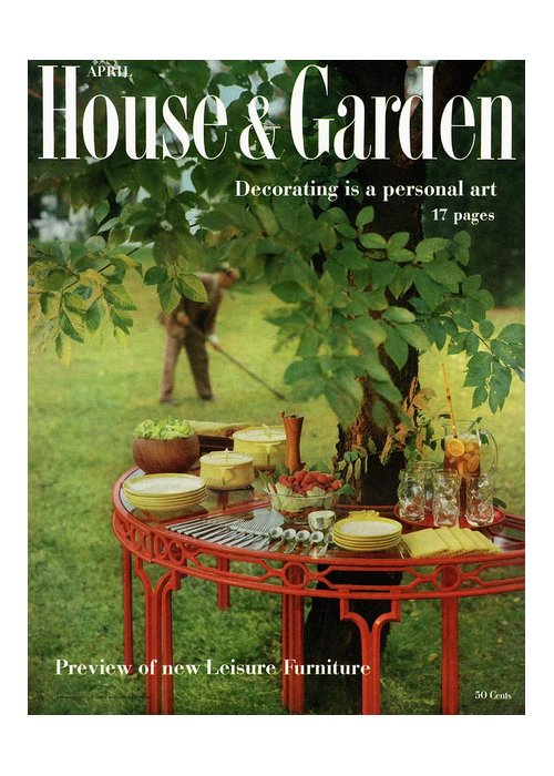 Landscape Greeting Card featuring the photograph House And Garden Cover by Horst P. Horst