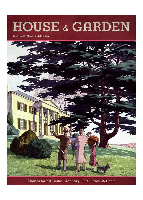 House And Garden Greeting Card featuring the photograph House And Garden Houses For All Tastes Cover by Pierre Brissaud