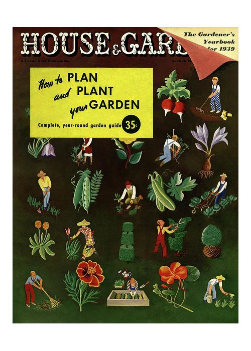 House And Garden Greeting Card featuring the photograph House And Garden How To Plan And Plant by Ilonka Karasz