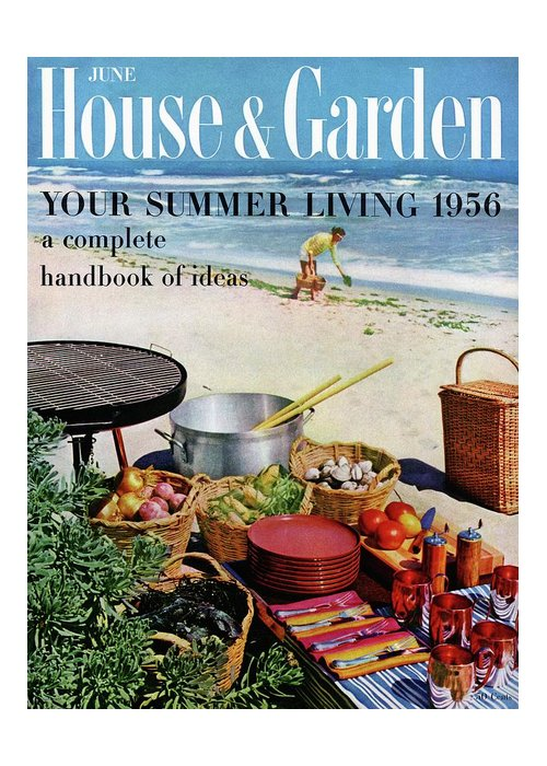 Entertainment Greeting Card featuring the photograph House And Garden Ideas For Summer Issue Cover by Tom Leonard