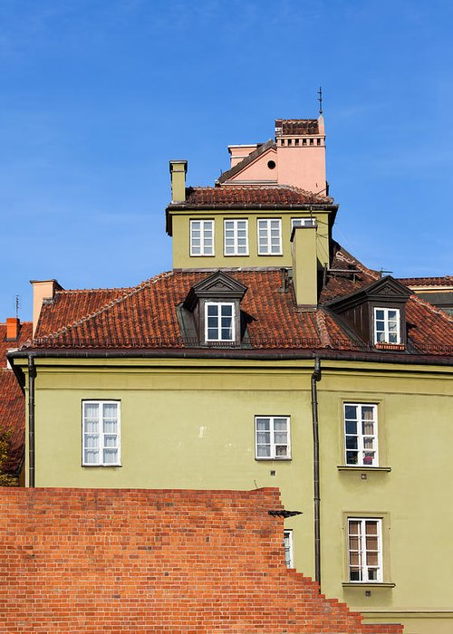 Warsaw Greeting Card featuring the photograph House In The Old Town Of Warsaw by Artur Bogacki