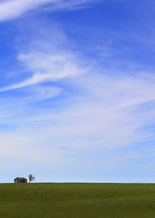 Interesting Clouds Greeting Card featuring the photograph House On The Hill by Mike McGlothlen