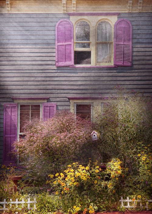 Victorian Greeting Card featuring the photograph House - Victorian - A House To Call My Own by Mike Savad