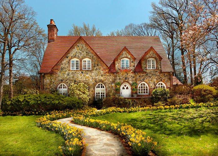 Savad Greeting Card featuring the photograph House - Westfield Nj - The Estates by Mike Savad