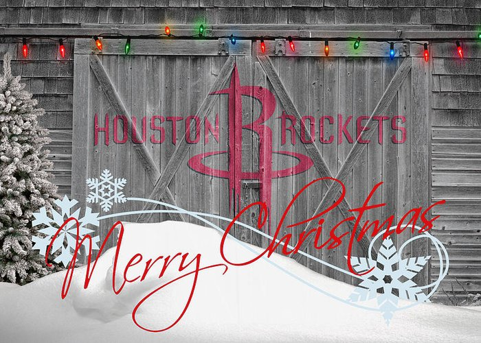 Rockets Greeting Card featuring the photograph Houston Rockets by Joe Hamilton