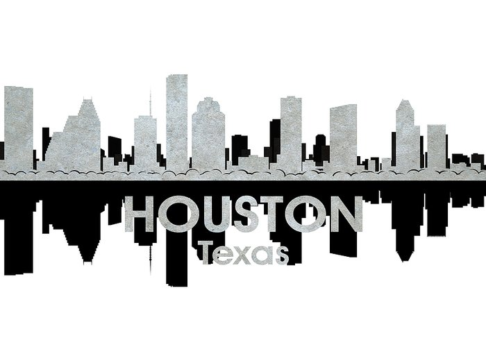 Houston Greeting Card featuring the mixed media Houston Tx 4 by Angelina Vick