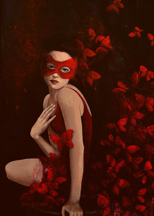 Fantasy Greeting Card featuring the painting How Long Do Butterflies Live by Dorina Costras