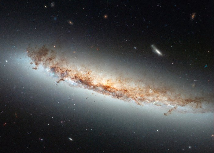 Ngc 4402 Greeting Card featuring the photograph Hubble Views Ngc 4402 by Science Source