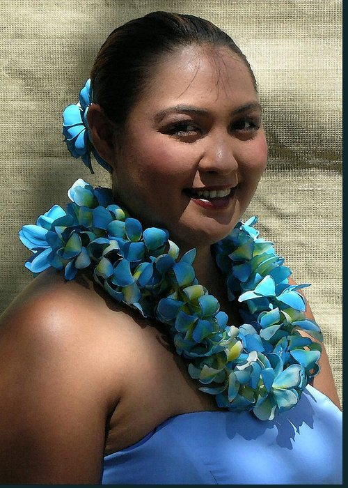 Hawaii Iphone Cases Greeting Card featuring the photograph Hula Blue by James Temple
