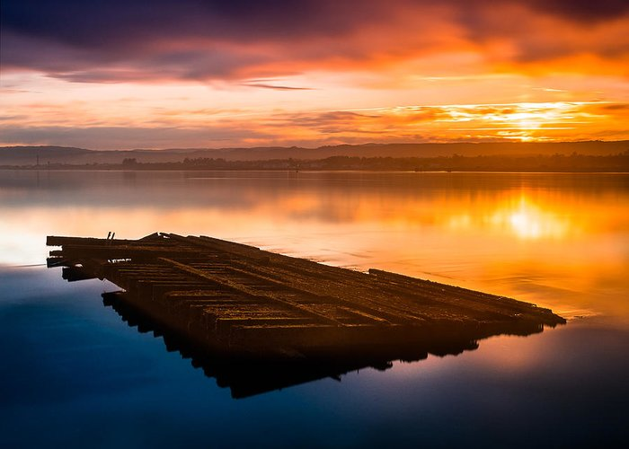Humboldt Bay Greeting Card featuring the photograph Humboldt Bay Spring Sunrise by Greg Nyquist
