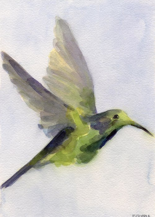 Bird Abstracts Greeting Cards