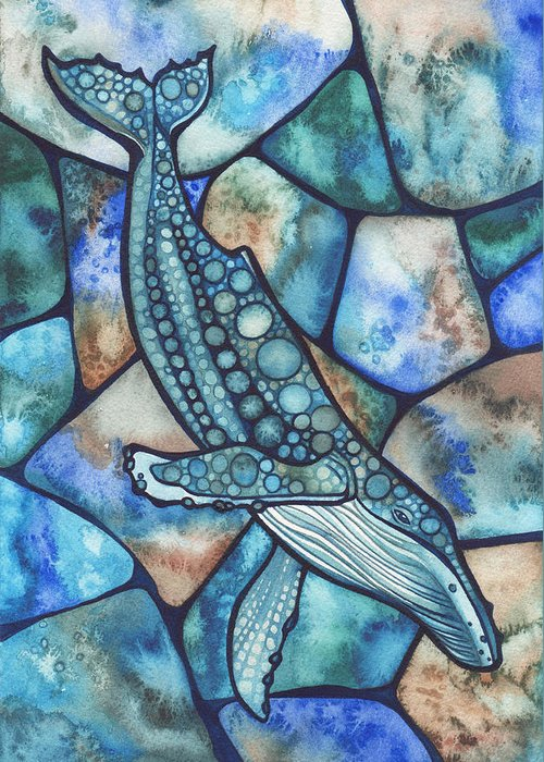 Turquoise Stained Glass Greeting Cards