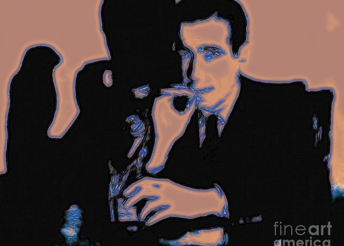 San Francisco Greeting Card featuring the photograph Humphrey Bogart And The Maltese Falcon 20130323m88 by Wingsdomain Art and Photography