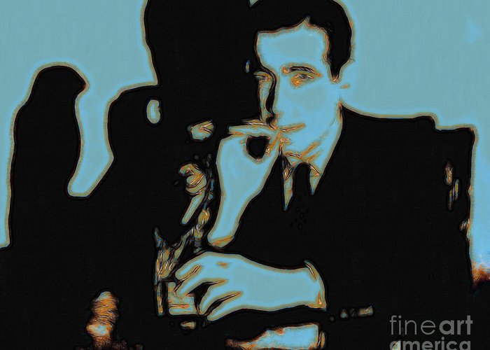 San Francisco Greeting Card featuring the photograph Humphrey Bogart And The Maltese Falcon 20130323p88 by Wingsdomain Art and Photography