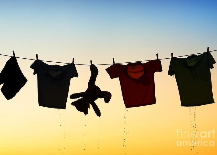 Drop Clothes Greeting Cards