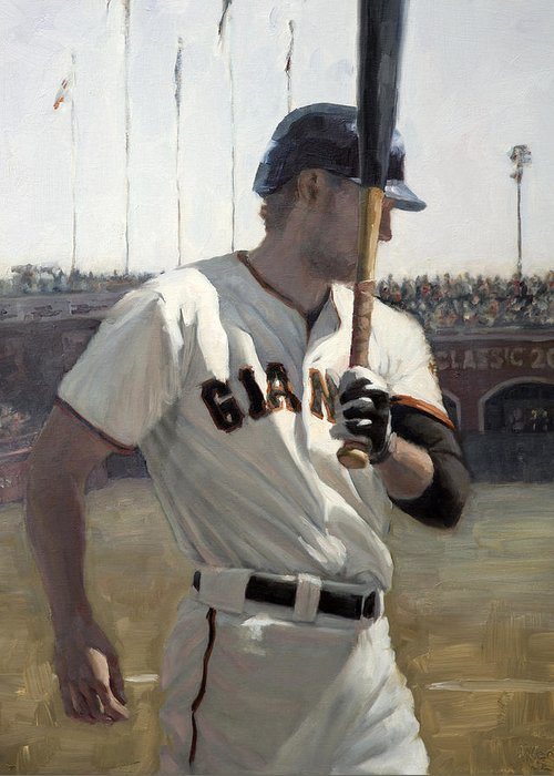 Hunter Pence Paintings Greeting Cards