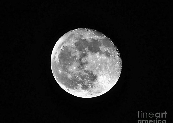 Moon Greeting Card featuring the photograph Hunters Moon by Al Powell Photography USA