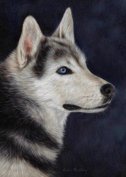Husky Art Greeting Cards