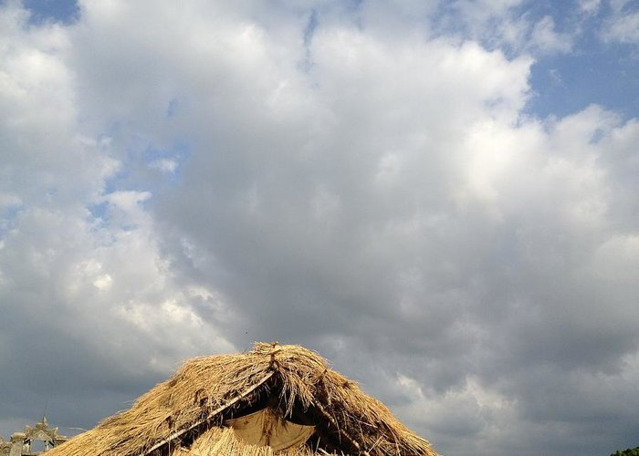 Cloud Greeting Card featuring the photograph Hut by Sameep Bhushan