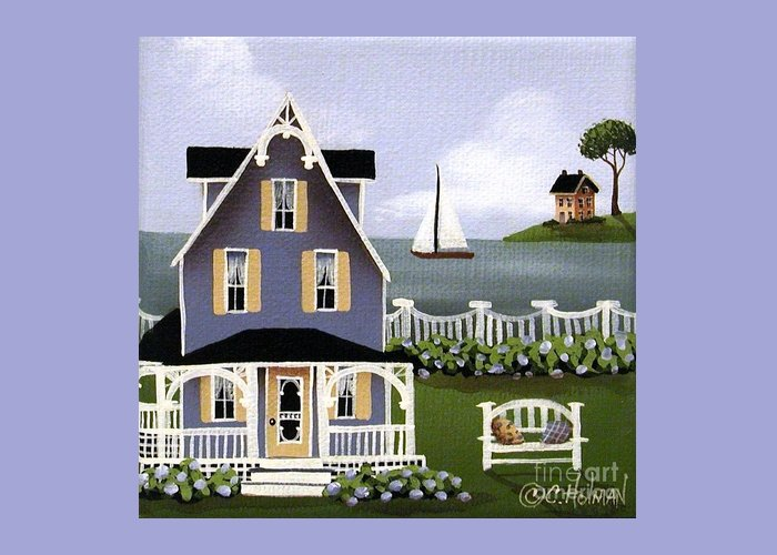 Art Greeting Card featuring the painting Hydrangea Cove by Catherine Holman