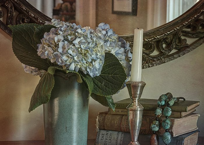 Hydrangea Greeting Card featuring the photograph Hydrangea Still-life by Terry Rowe