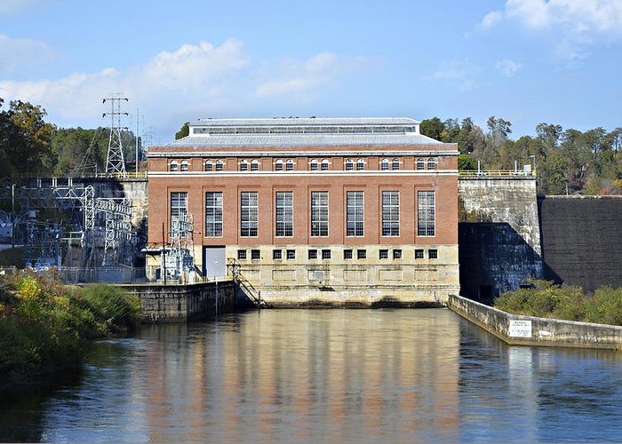 Greeting Card featuring the photograph Hydroelectric Power by Susan Leggett