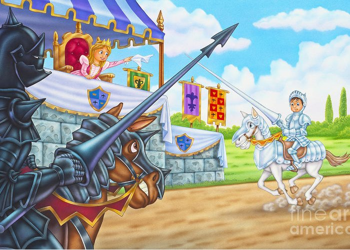 Knights Prepare To Fight Greeting Card featuring the painting I Believe In You by Phil Wilson