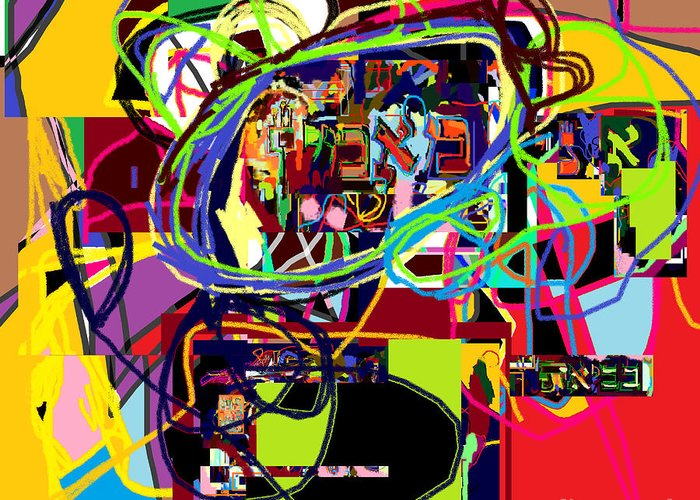Greeting Card featuring the digital art I Believe With Complete Faith In The Coming Of Mashiach 5 by David Baruch Wolk
