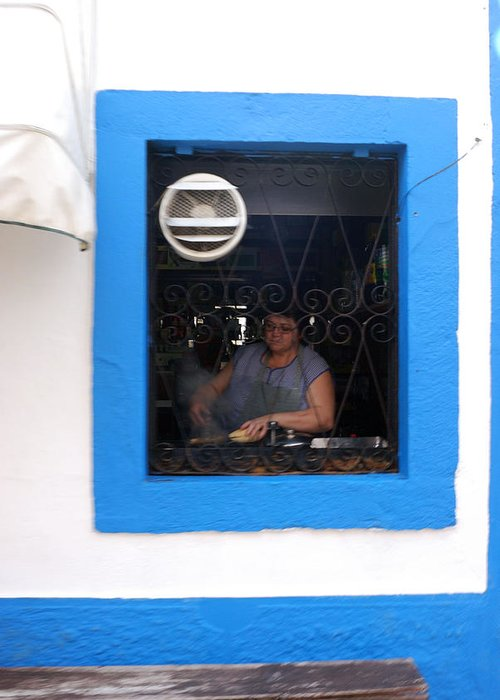Restaurant Greeting Card featuring the photograph I Can See Your Kitchen by Luis Esteves
