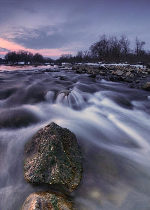 Landscapes Greeting Card featuring the photograph I Follow River by Davorin Mance