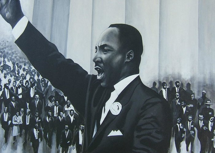 Martin Luther King Greeting Card featuring the painting I Have A Dream by Howard Stroman