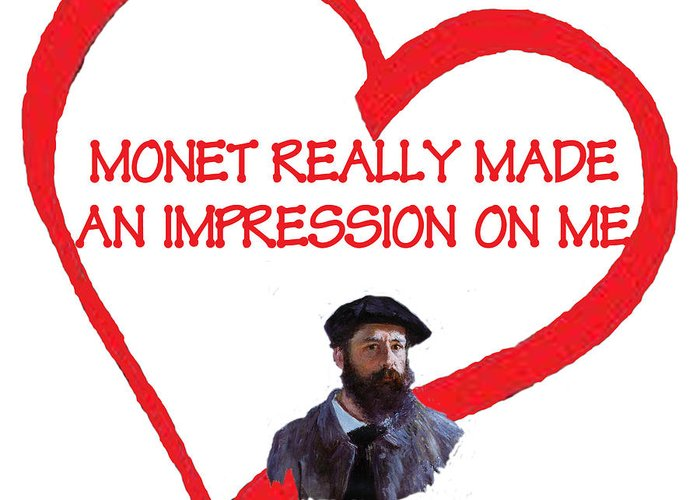 Monet Greeting Card featuring the digital art I Love Monet by Philip Ralley