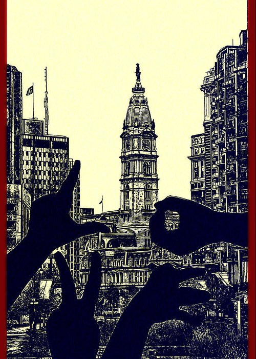 I Love Philly Greeting Card featuring the photograph I Love Philly by Bill Cannon