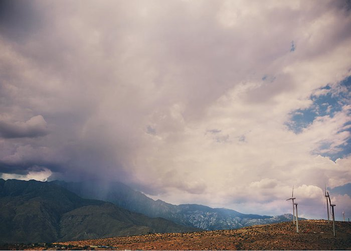 Palm Springs Greeting Card featuring the photograph I Predict Rain by Laurie Search