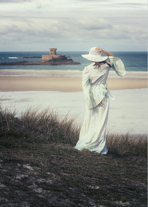 Woman Greeting Card featuring the photograph I See The Horizon by Joana Kruse