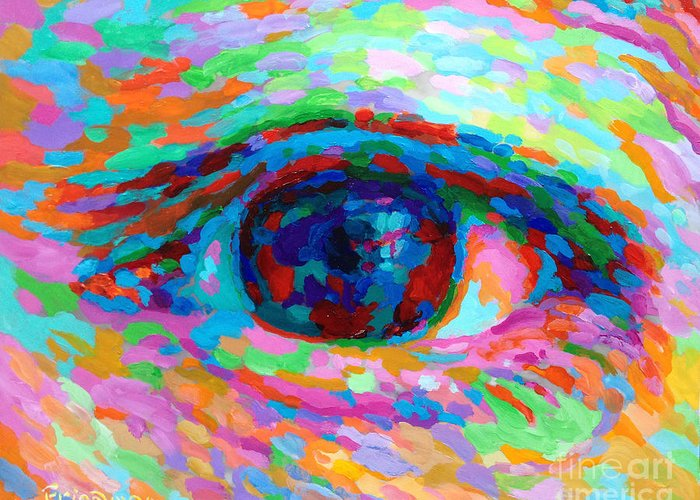 Eye Greeting Card featuring the painting I See You by David Friedman