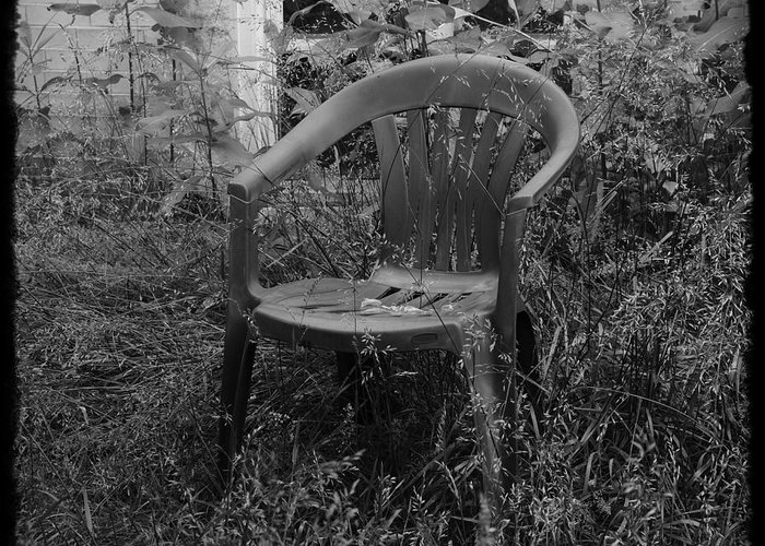 Chair Greeting Card featuring the photograph I Used To Sit Here by Luke Moore