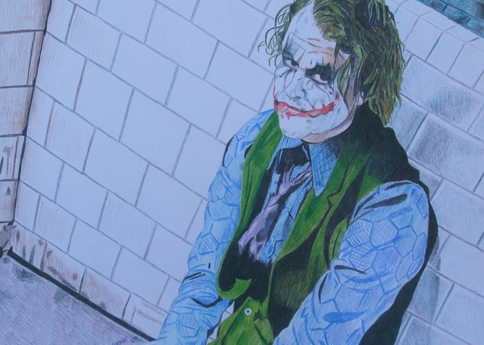 I want my phone call greeting card for sale by jeremy moore joker dark knight heath ledger movie actor greeting card featuring the drawing i want my phone m4hsunfo