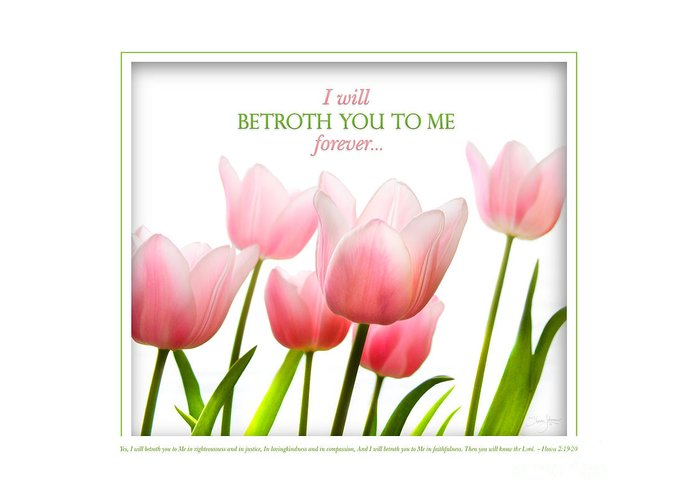 Hosea Greeting Card featuring the photograph I Will Betroth You by Shevon Johnson