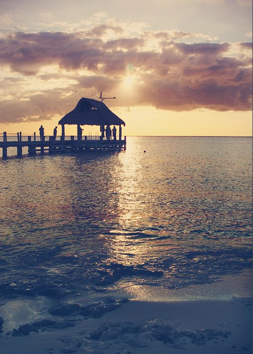 Cozumel Greeting Card featuring the photograph I Will Feel Eternity by Laurie Search