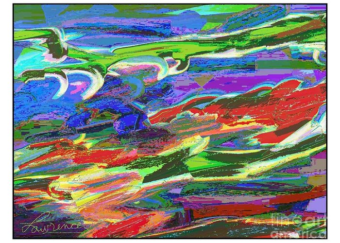 Lawrence Nusbaum Greeting Card featuring the digital art I147 by Lawrence Nusbaum
