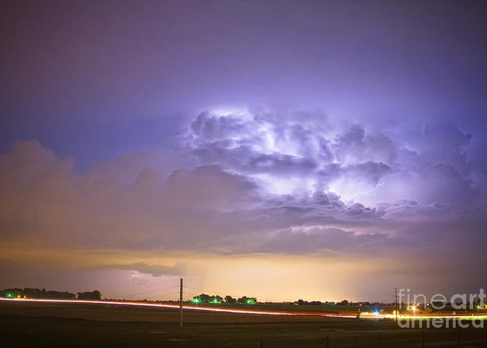 Lightning Greeting Card featuring the photograph I25 Intra-cloud Lightning Strikes by James BO Insogna