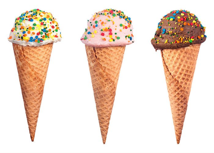 Ice Cream Cone Greeting Card featuring the photograph Ice Cream Cone Assortment by Joe Belanger