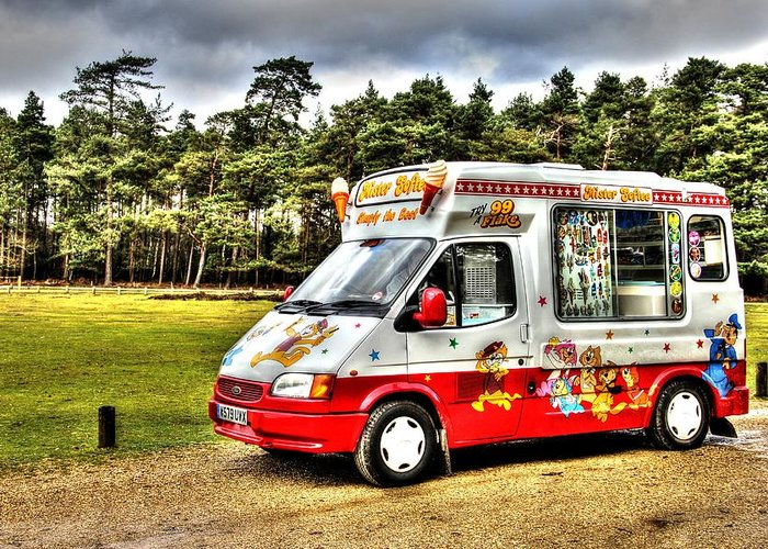 Ice Cream Greeting Card featuring the photograph Ice Cream in the New Forest by Peggy Berger