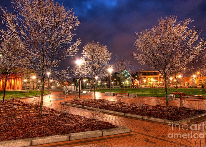 Greensboro Greeting Card featuring the photograph Ice In The Park - Greensboro by Dan Carmichael