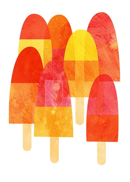 A Hot Summer Day Mixed Media Greeting Cards