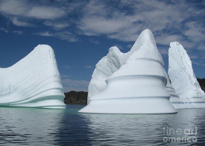 Iceberg Newfoundland Greeting Card featuring the photograph Icebergs by Seon-Jeong Kim