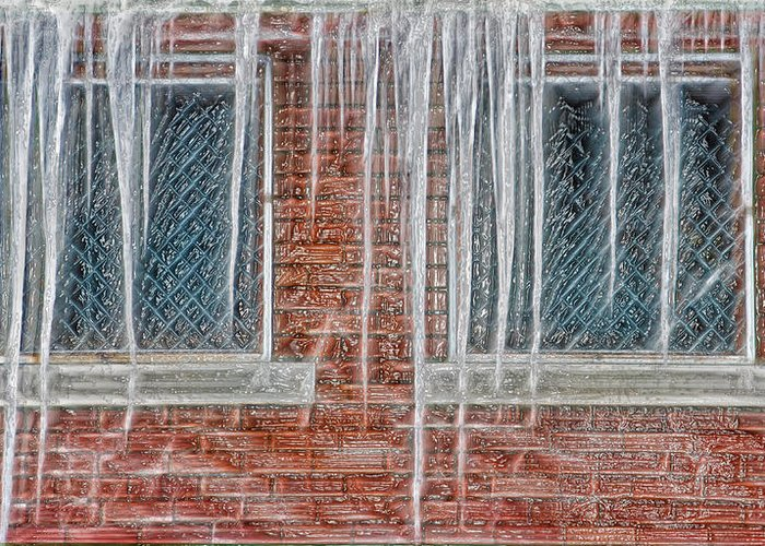 Ice Greeting Card featuring the photograph Iced Over by Steve Ohlsen