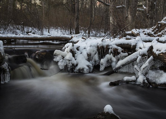 Andrew Pacheco Greeting Card featuring the photograph Icy Waters by Andrew Pacheco