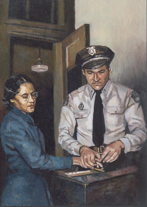 Bus Greeting Card featuring the painting Identification Rosa by Colin Bootman
